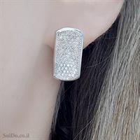 עגילים ותליון מכסף משובצים אבני זרקון  S1673