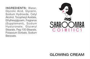 GLOWING CREAM  עם חומצה הילראונית לעור זוהר ומחודש SHAROOMBA