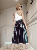 חצאית מניילון יפני - שחור