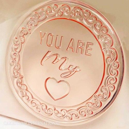 YOU ARE MY LOVE טופר חדש מסגרת עגולה לבחירה| קישוט טופר לעוגה|  חדש מאתי דבש