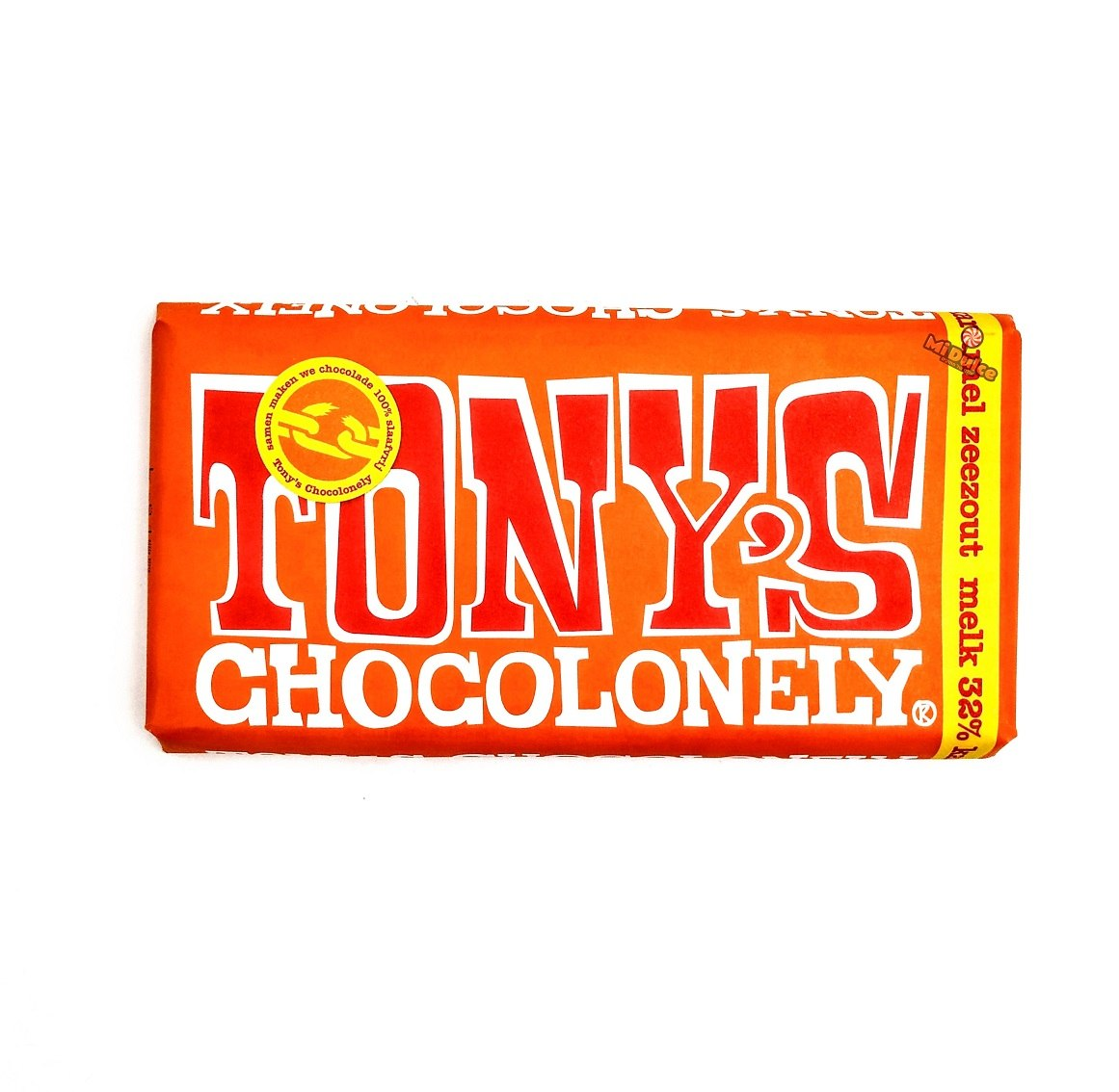 Tony's Chocolonely שוקולד חלב קרמל מלוח (100% free slave)