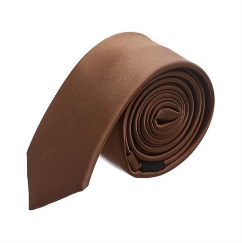 עניבה חלקה חום