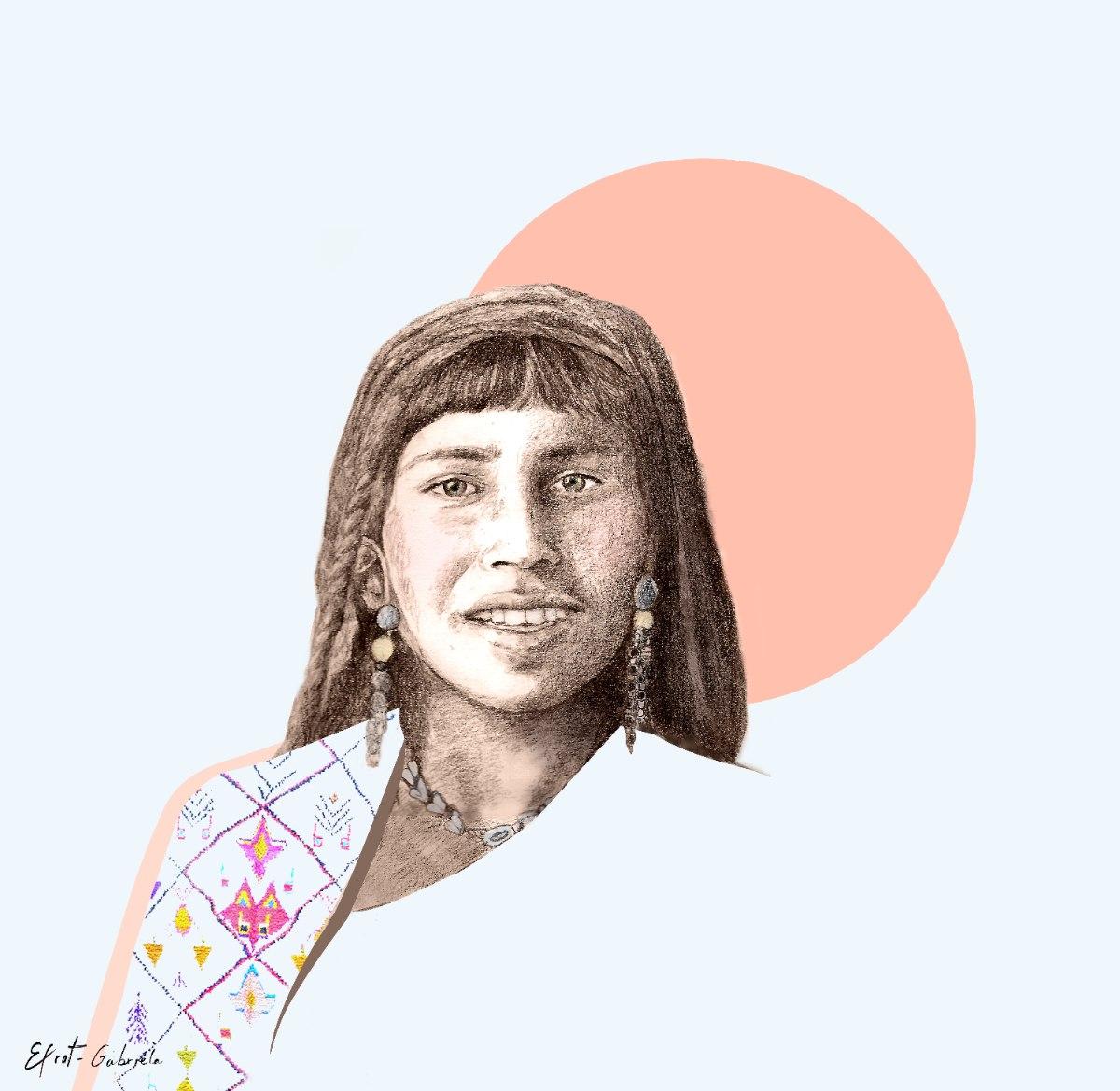 הדפס ציור - omara נערה מטוניס