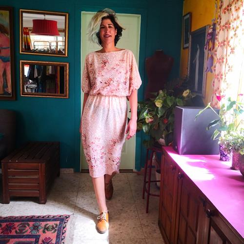 שמלה רומנטית שקופה מעט מידה M/L
