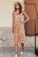 שמלת ג'יין בוהו עלים