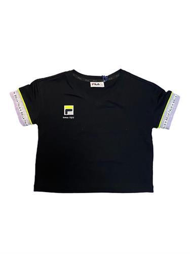 חולצת קרופ שחורה FILA