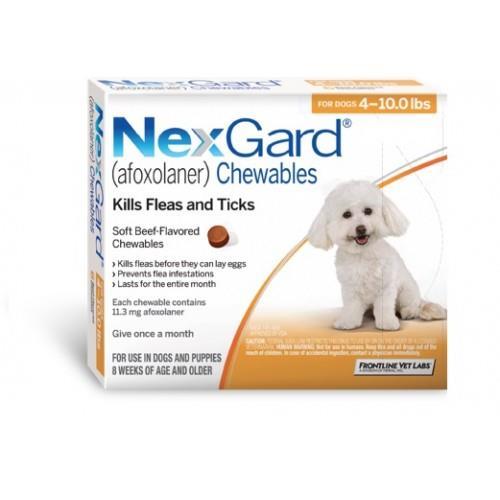 """עותק של NexGard חבילת 3 כדורים בטעם עוף נגד פרעושים וקרציות לכלבים במשקל 2-4 ק""""ג"""
