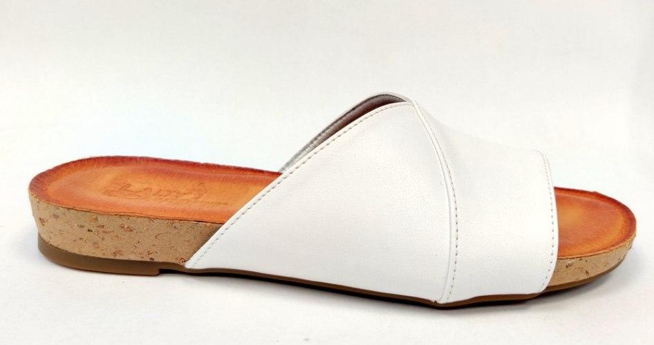 כפכף נוחות שטוח לנשים כחול-לבן דגם - LC371