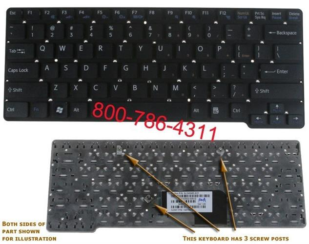 מקלדת למחשב נייד סוני Sony VGN-CW Laptop Keyboard 148755521 / 9J.N0Q82.B01 / NSK-S7A01