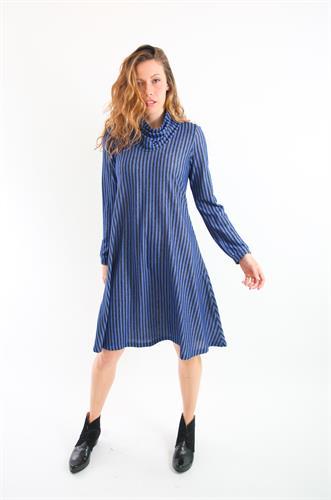 שמלת גלי פסים כחול