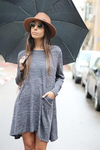 שמלת סלינה סריג כיסים