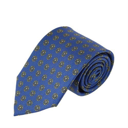 עניבה עיגולים סימטרים כחול רויאל