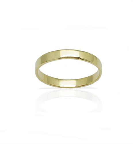 טבעת נישואין קלאסית מזהב 14 קרט