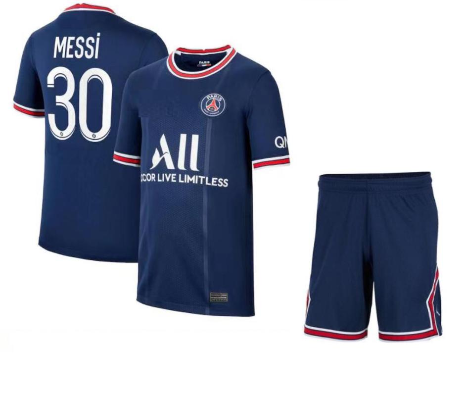 חליפת כדורגל ילדים  מסי  פאריס סן זרמן כחולה  (כולל מכנס)
