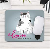 משטח עכבר למחשב דגם love meow