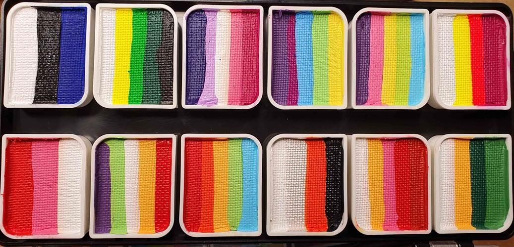 פלטת 12 קשתות  של חברת קמיליון Palette 12 colorblocks Cameleon