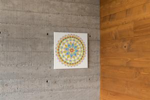מנדלת פריחה - מנדלה מקורית בעבודת יד מודפסת על בד קנבס
