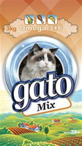 """מזון לחתולים גאטו 3 ק""""ג"""