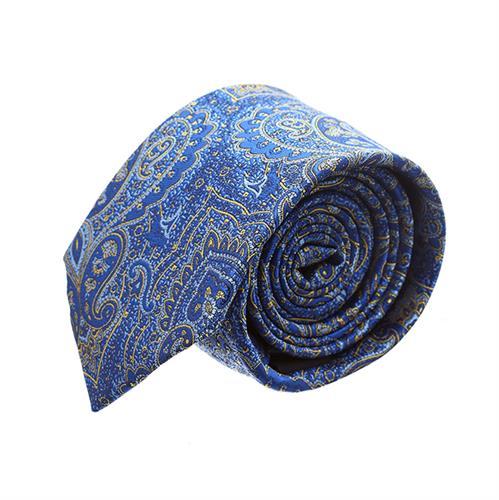 עניבה פייזלי כחול רויאל משולב