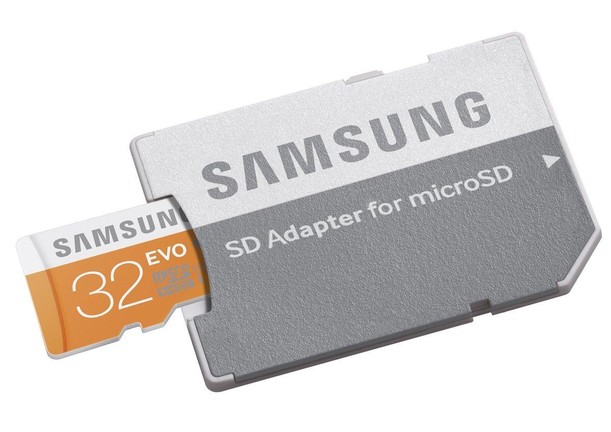 כרטיס זיכרון  MicroSDHC samsung EVO Memory Card Adapter 32GB ומתנה