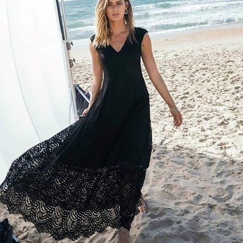 שמלת דנה - תחרה גיאומטרית