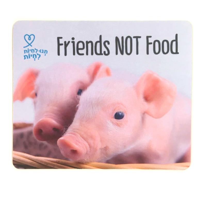 """פד לעכבר חזירים חמודים """"חבר - לא אוכל"""""""