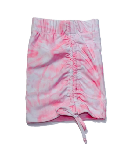 חצאית מיני כיווצים טאי דאי MISS KIDS ורוד - 2-16