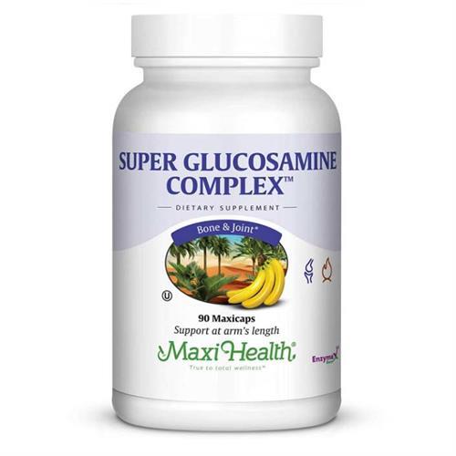-- גלוקוזמין קומפלקס -- מכיל 90 קפסולות, Maxi Health