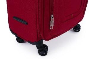 סט 3 מזוודות SWISS בד קלות וסופר איכותיות - צבע אדום