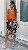חצאית מעטפת זברה