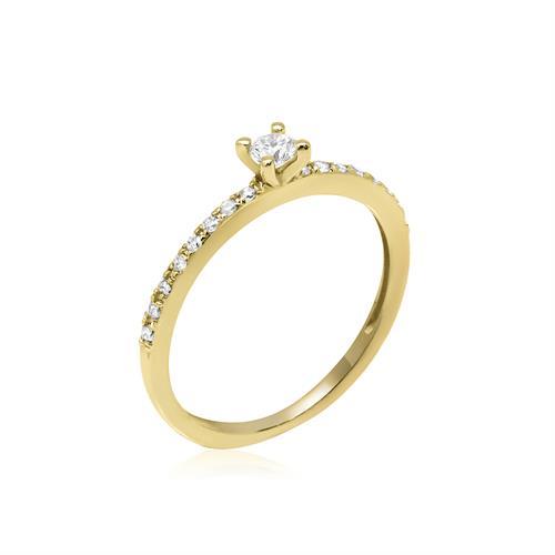 טבעת יהלומים │ טבעת זהב עם יהלומים │ טבעת אירוסין יהלומים