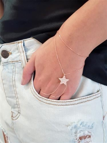 צמיד גב יד כוכב