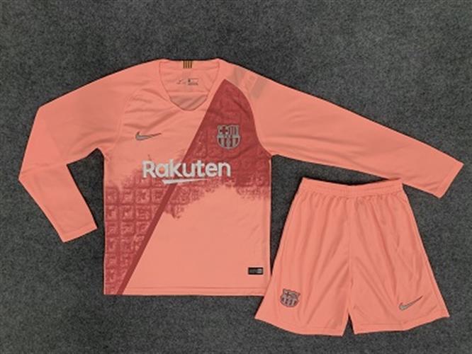 סט משחק חולצה ארוכה ברצלונה חוץ  18-19