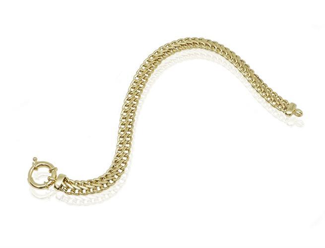 צמיד זהב דק צמיד חוליות עם נוכחות לאישה בסגנון S