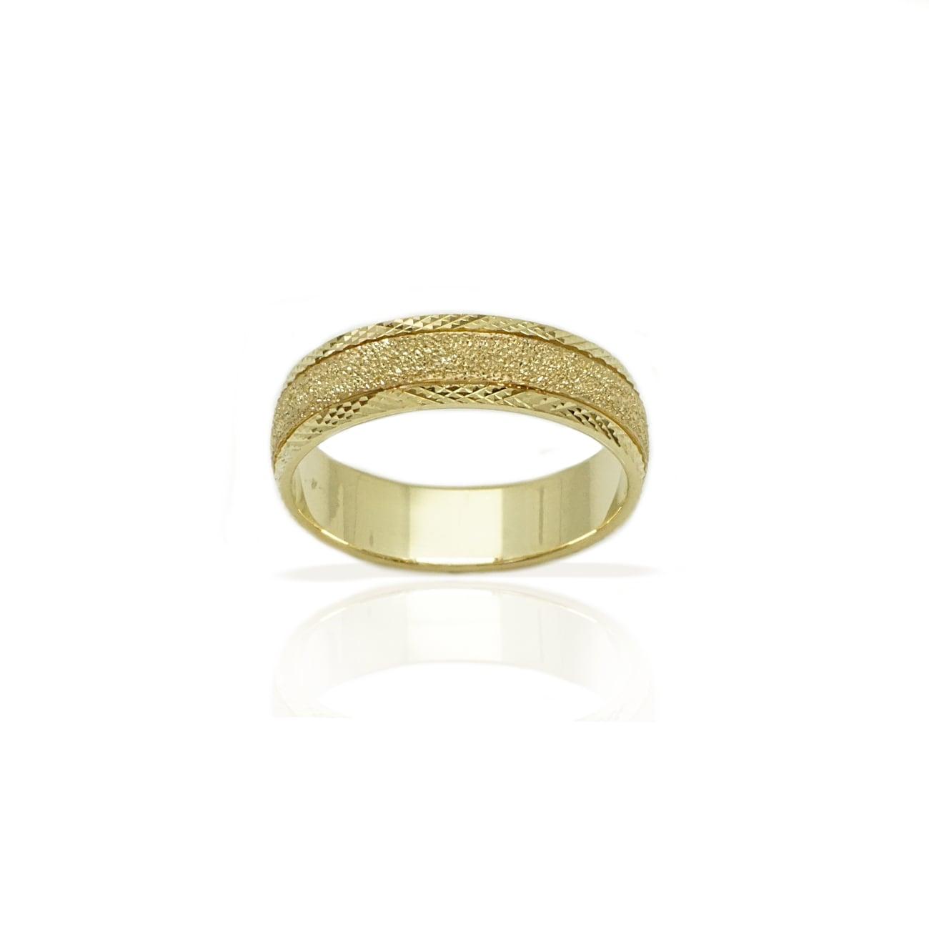 טבעת נישואין רחבה מזהב 14 קאראט- דגם M212