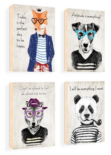 סט של 4 תמונות השראה מעוצבות לתינוקות, לסלון, חדר שינה, מטבח, ילדים - תמונות השראה היפסטרים 53