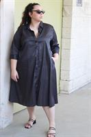 שמלת ניו יורק שחור פסים