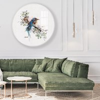 תמונת זכוכית לסלון ציור של ציפור