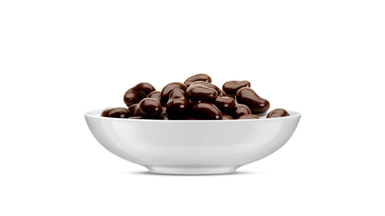 קשיו בציפוי שוקולד מריר 100 גרם