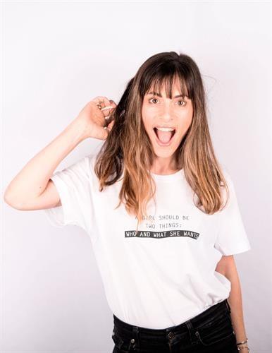 חולצת טי שירט יוניסקס קוקו שנל שיתוף פעולה עם חיים של אמא