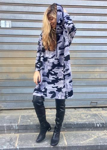 שמלת פאנקי צבאי אפור