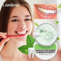 אבקת צחצוח להלבנת השיניים