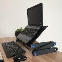 שולחן מתכת מתכוונן למחשב נייד