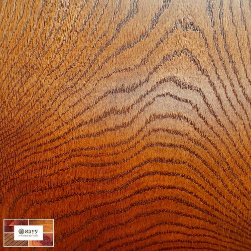 פרקט עץ תלת שכבתי קוניאק אדמדם בגמר לכה/שמן
