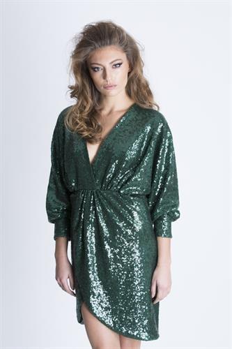 שמלת סנטנה ירוק פייט