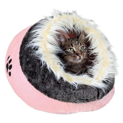 """מיטת """"מינו"""" ורודה לחתול"""