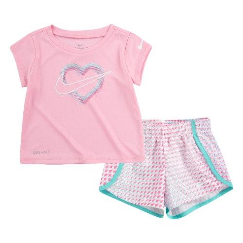 חליפת ספורט לב ורודה NIKE בנות - 12 חודשים עד 7 שנים