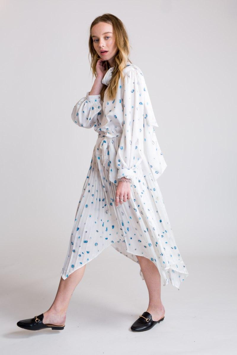שמלת אמילי לבן