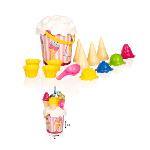 כלי חול גלידה 14 חלקים