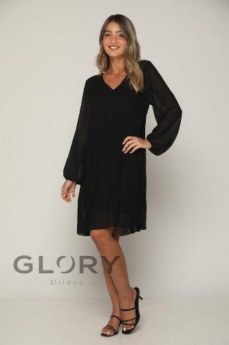 שמלת פליסה חלקה GLORY